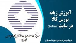 آموزش زبانه بورس کالا در سایت tsetmc