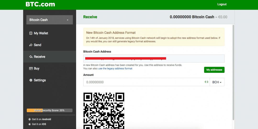 افتتاح حساب در کیف پول BTC